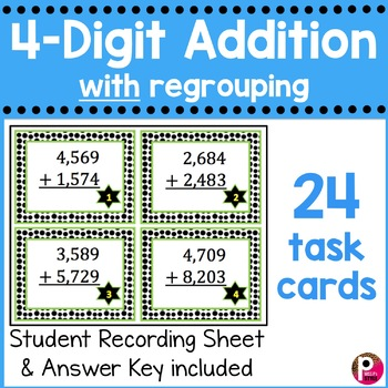4-Digit Addition Task Cards With Regrouping