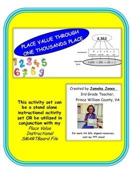 Grade 3 4 Digit Place Value Activity Set