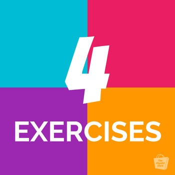 4 Exercises Fitness Warmup Game | Physical Education