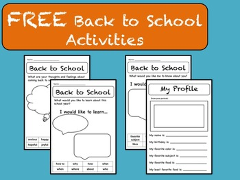 "4 Free ""Back to School"" Activities for Grades 2-4"