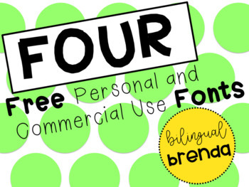 4 Free Personal Use Fonts