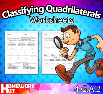 4.G.2 - Classifying Quadrilaterals and Triangles Worksheets