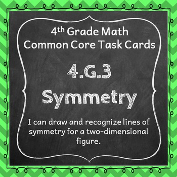 4.G.3 Task Cards: Lines of Symmetry (Fourth-Grade Common C