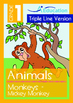 4-IN-1 BUNDLE - Animals (Set 1) Grade 1 (with 'Triple-Trac