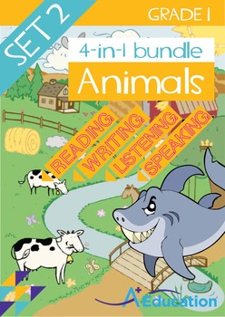 4-IN-1 BUNDLE- Animals (Set 2) – Grade 1