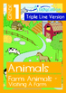 4-IN-1 BUNDLE - Animals (Set 2) Grade 1 (with 'Triple-Trac