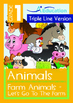 8-IN-1 BUNDLE - Animals (Set 1) Grade 1 (with 'Triple-Trac