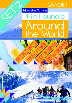 4-IN-1 BUNDLE - Around the World (Set 2) Grade 1 ('Triple-
