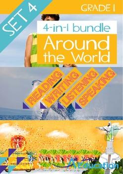 4-IN-1 BUNDLE- Around the World (Set 4) – Grade 1