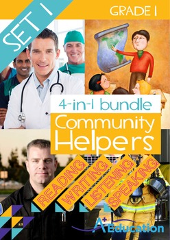 4-IN-1 BUNDLE- Community Helpers (Set 1) – Grade 1