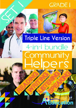 4-IN-1 BUNDLE - Community Helpers (Set 1) Grade 1 ('Triple