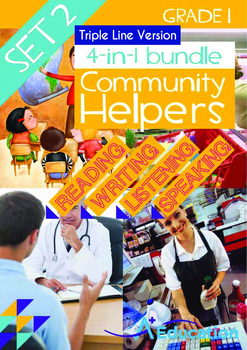 4-IN-1 BUNDLE - Community Helpers (Set 2) Grade 1 ('Triple