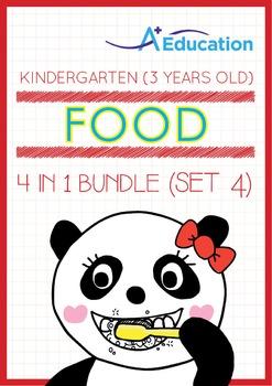 4-IN-1 BUNDLE - Food (Set 4) - Kindergarten, K1 (3 years old)
