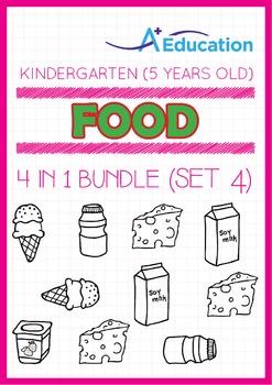 4-IN-1 BUNDLE - Food (Set 4) - Kindergarten, K3 (5 years old)