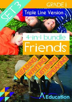 4-IN-1 BUNDLE- Friends (Set 3) - Grade 1 (with 'Triple-Tra