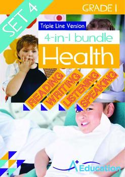 4-IN-1 BUNDLE- Health (Set 4) - Grade 1 (with 'Triple-Trac