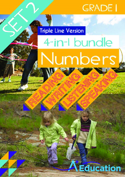 4-IN-1 BUNDLE- Numbers (Set 2) - Grade 1 (with 'Triple-Tra