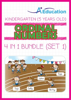 4-IN-1 BUNDLE - Ordinal Numbers (Set 1) - Kindergarten, K3