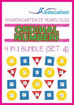 4-IN-1 BUNDLE - Ordinal Numbers (Set 4) - Kindergarten, K3