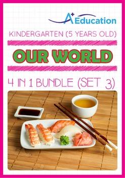 4-IN-1 BUNDLE - Our World (Set 3) - Kindergarten, K3 (5 ye
