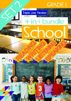 4-IN-1 BUNDLE - School (Set 2) Grade 1 ('Triple-Track Writ