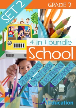 4-IN-1 BUNDLE- School (Set 2) – Grade 2