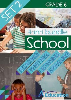 4-IN-1 BUNDLE- School (Set 2) – Grade 6