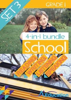 4-IN-1 BUNDLE- School (Set 3) - Grade 1