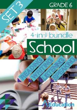 4-IN-1 BUNDLE- School (Set 3) – Grade 6