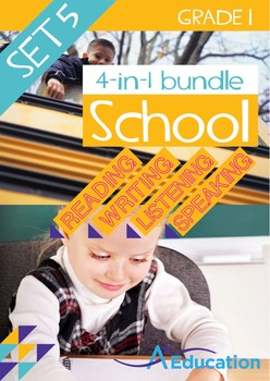 4-IN-1 BUNDLE- School (Set 5) - Grade 1