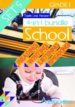 4-IN-1 BUNDLE - School (Set 5) Grade 1 ('Triple-Track Writ