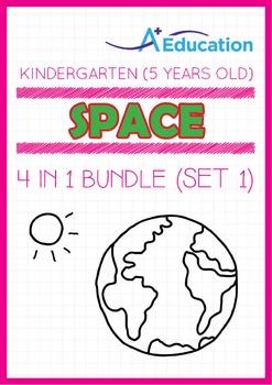 4-IN-1 BUNDLE - Space (Set 1) - Kindergarten, K3 (5 years old)