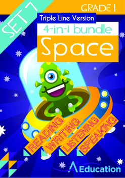 4-IN-1 BUNDLE- Space (Set 7) - Grade 1 (with 'Triple-Track