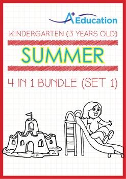 4-IN-1 BUNDLE - Summer Fun (Set 1) - Kindergarten, K1 (3 y