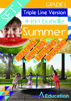 4-IN-1 BUNDLE- Summer (Set 1) - Grade 1 (with 'Triple-Trac