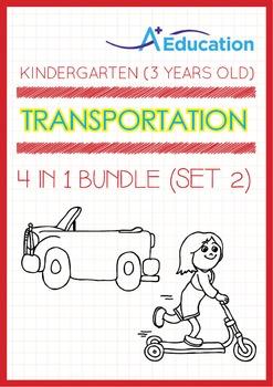 4-IN-1 BUNDLE - Transportation (Set 2) - Kindergarten, K1