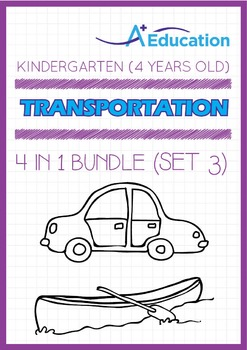 4-IN-1 BUNDLE - Transportation (Set 3) - Kindergarten, K2