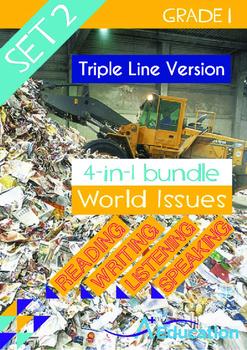 4-IN-1 BUNDLE- World Issues (Set 2) - Grade 1 ( 'Triple-Tr