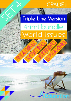 4-IN-1 BUNDLE- World Issues (Set 4) - Grade 1 ( 'Triple-Tr