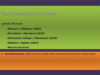 4. The Constitution in Action - Lesson 5 of 7: Monroe