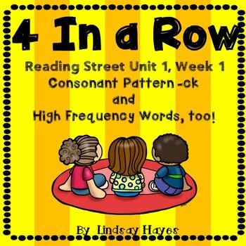 4 In a Row: Reading Street Skills Unit 1, Week 1- Consonan