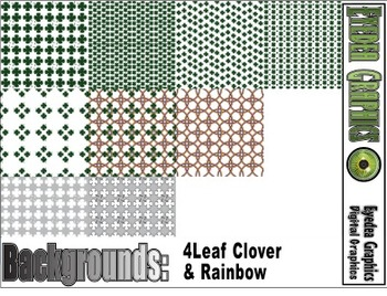 4 Leaf Clover & Rainbow backgrounds