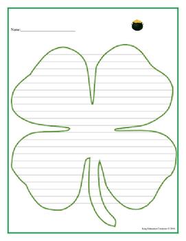 4 Leaf Clover Writing Paper