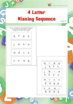4 Letter Missing Sequence