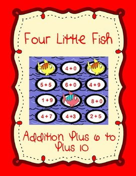 4 Little Fish Printable Math File Folder Game Addition Plu