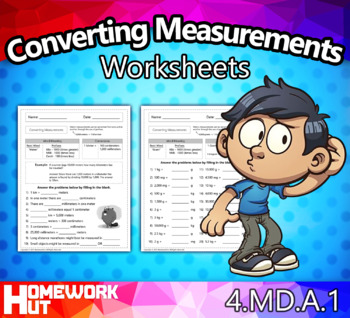4.MD.1 - Converting Measurements Worksheets