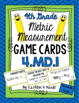 4.MD.1 Game Cards: Metric Measurement
