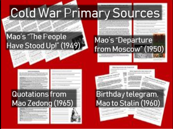 4 Mao Zedong Cold War Primary Sources with Qs (speeches, t
