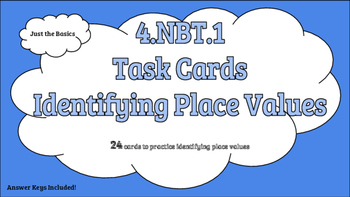 4.NBT.1 Task Cards Identifying Place Value