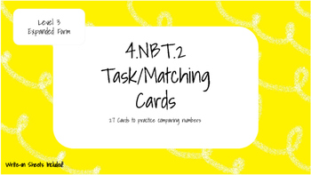 4.NBT.2 Level Three Task Cards